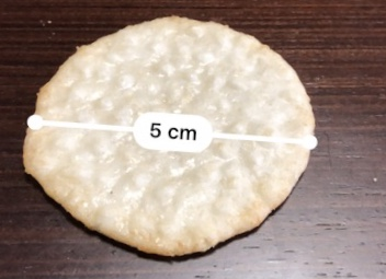 オランダせんべいサイズ