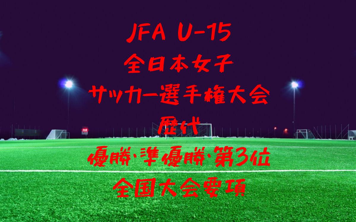U15全日本女子サッカー選手権大会歴代