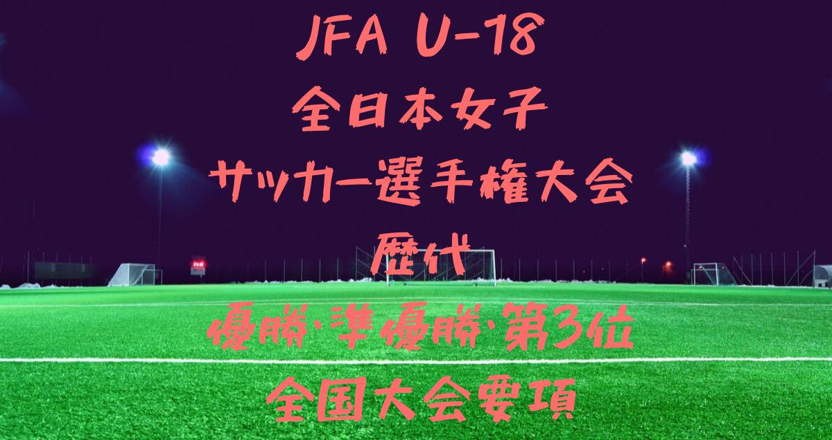 U18全日本女子サッカー選手権大会歴代