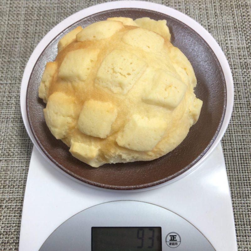世界で2番めに美味しい焼きたてメロンパン重さ