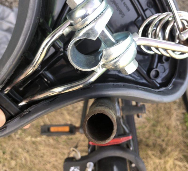 自転車サドル交換