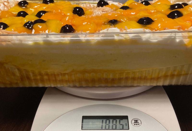 マンゴームーススコップケーキ重さ